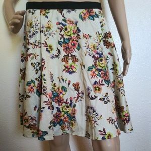 Topshop Floral Cross stitch Pattern skirt